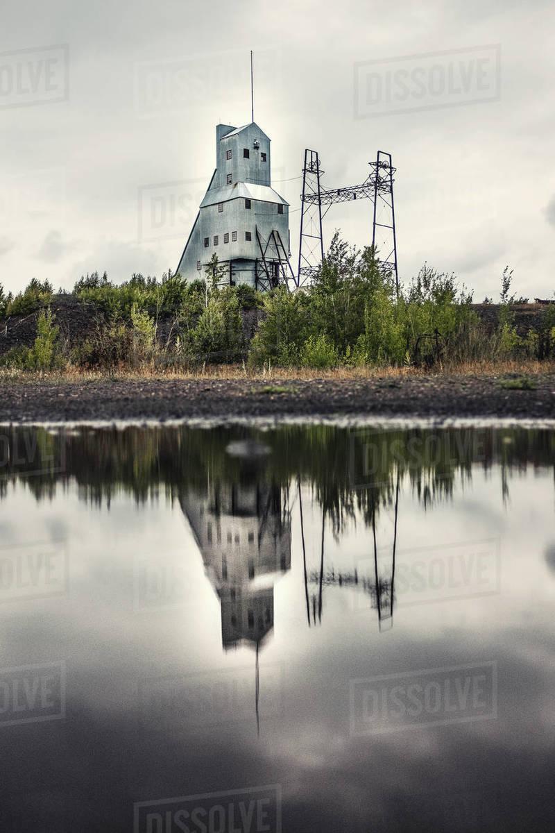 Houghton Michigan Mine Royalty-free stock photo