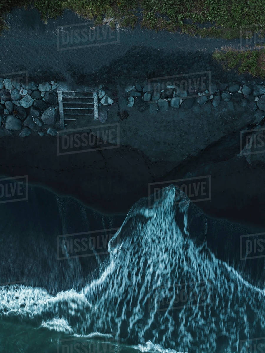 Aerial view of wave Royalty-free stock photo