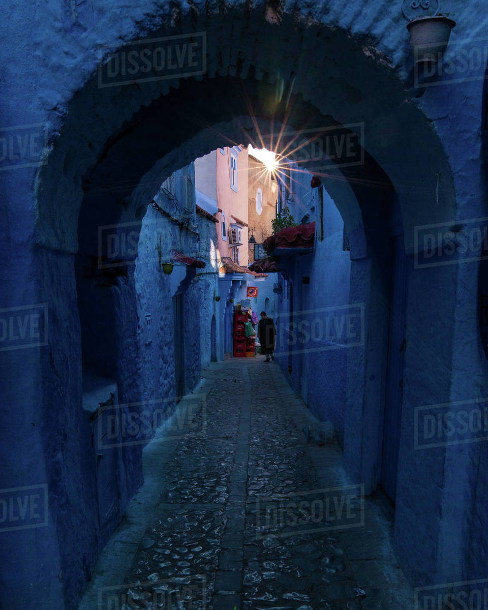 Chefchaouen archway Royalty-free stock photo