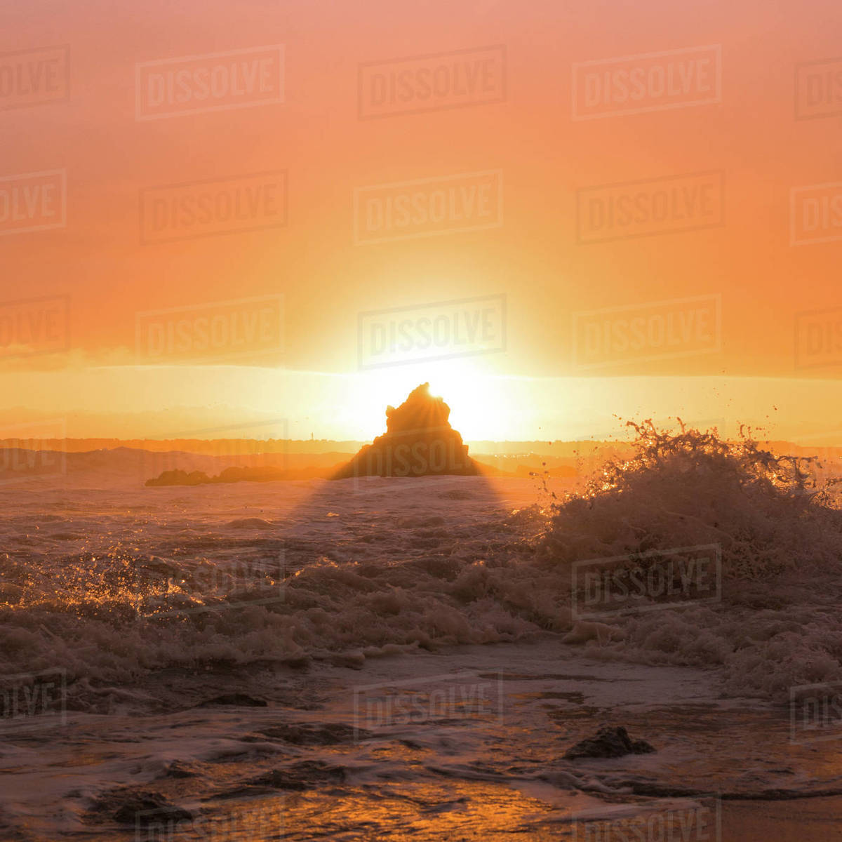 Waves and Light Royalty-free stock photo