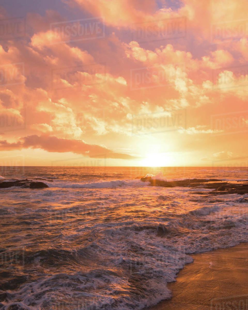 Laguna Cotton Candy Sunset Royalty-free stock photo