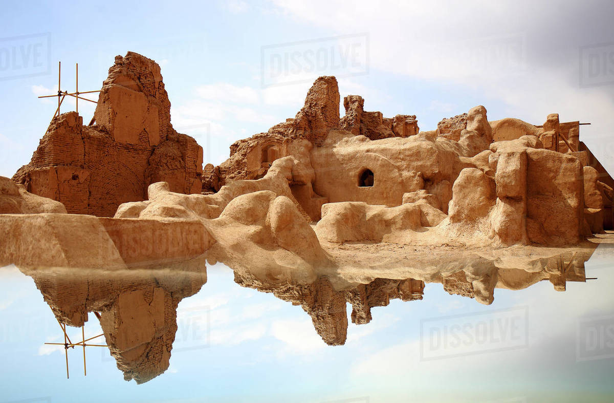 The old citadel of Arg-e Bam, Kerman Province, Iran. Royalty-free stock photo