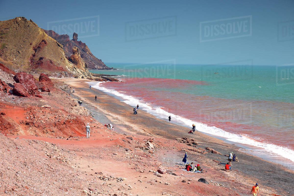 The Persian Gulf. _x000D_HORMUZ ISLAND, IRAN Royalty-free stock photo
