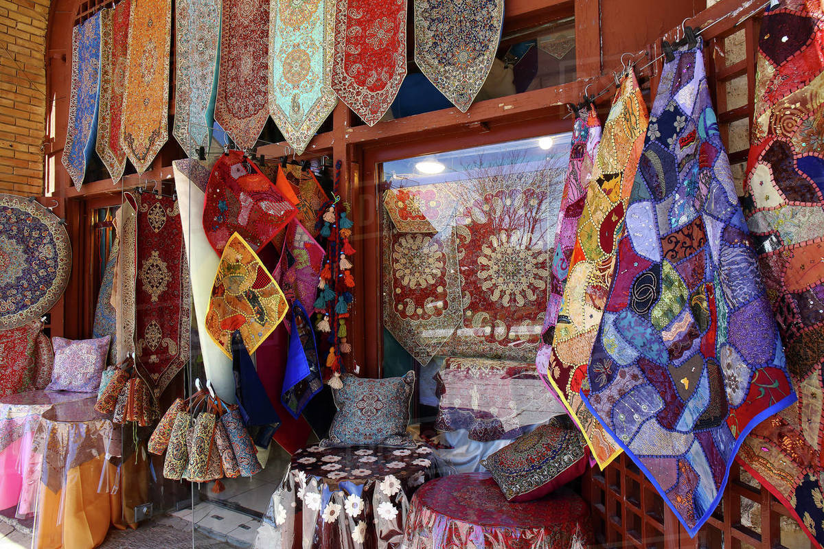 Isfahan, Iran. The Isfahan bazaar in Imam Square in Isfahan, Iran. Isfahan bazaar is a popular tourist attraction. Royalty-free stock photo
