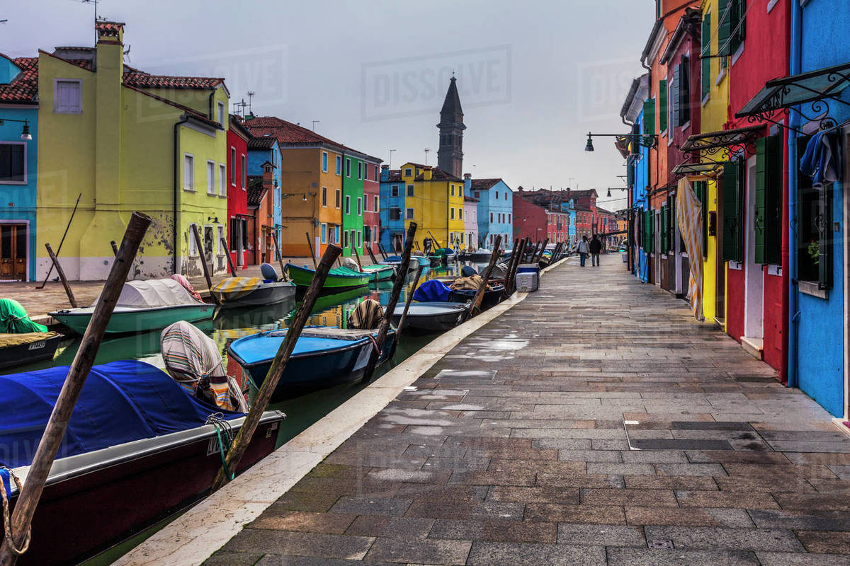 Colorful houses of Burano island Royalty-free stock photo