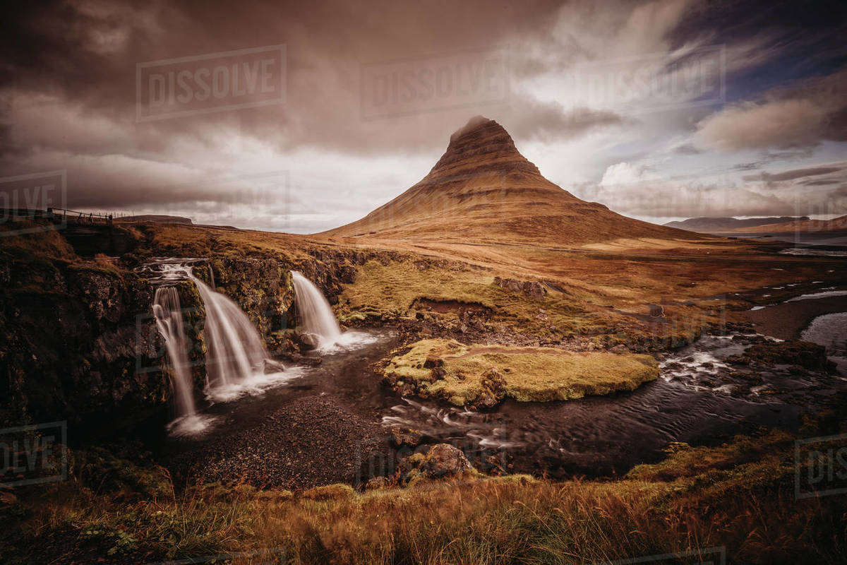 Kirkufell mountain in Iceland. Royalty-free stock photo