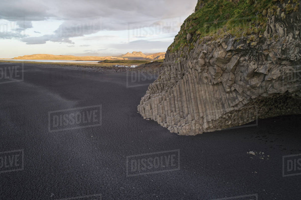Basalt columns at Reynisfjara beach Royalty-free stock photo