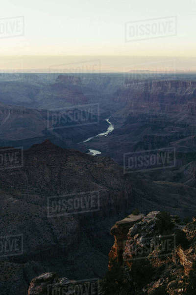 Scenic view of Grand Canyon National Park against sky Royalty-free stock photo
