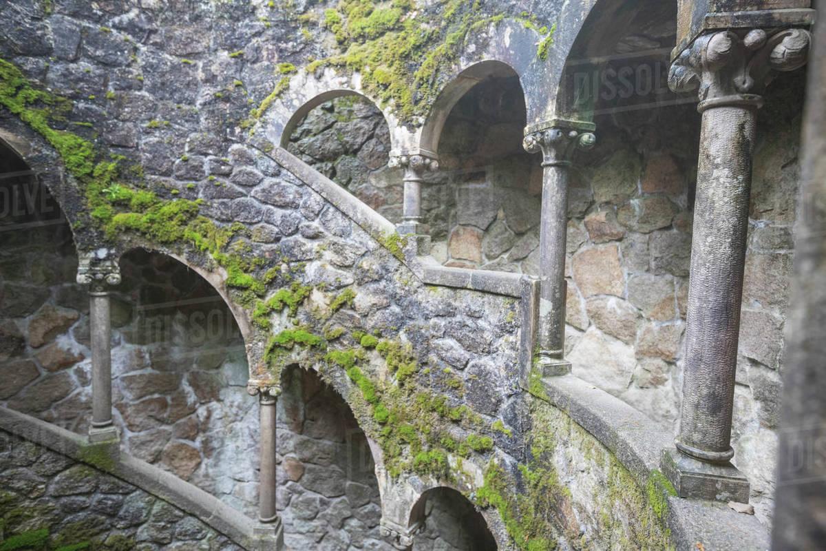 """Quinta de Regaleira environment """"Pozo Inici√°tico"""" Royalty-free stock photo"""