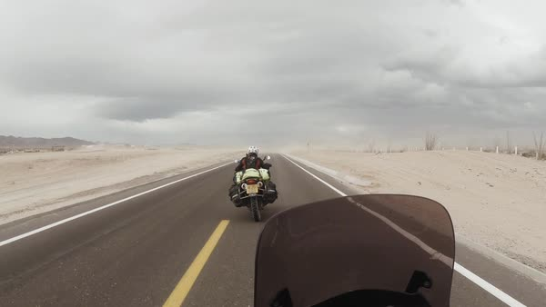 Point-of-view shot of a person riding a motorcycle Royalty-free stock video