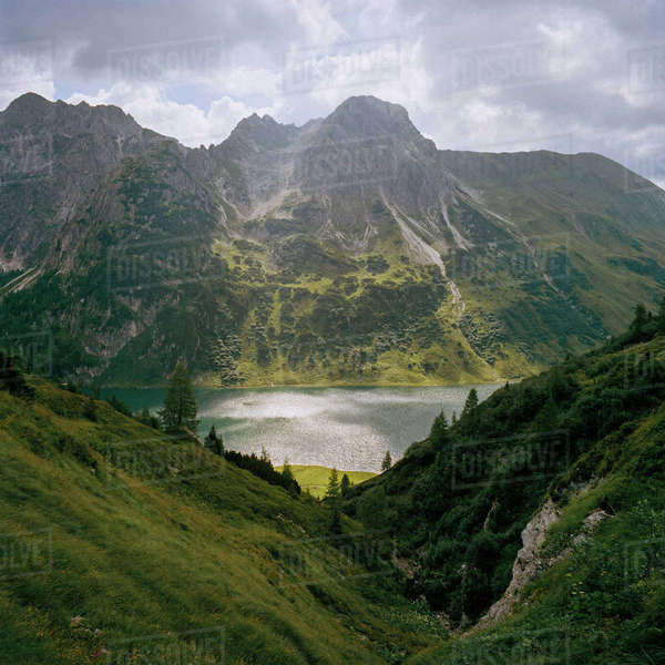 Austria, Tappenkarsee, Picture of mountain lake Royalty-free stock photo