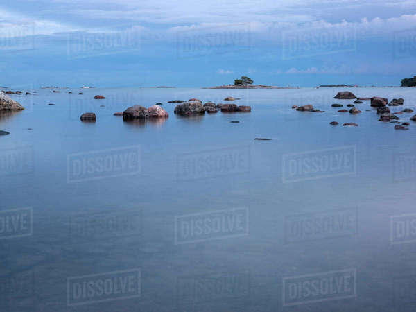 Finland, Helsinki, Drumso, Seascape Royalty-free stock photo