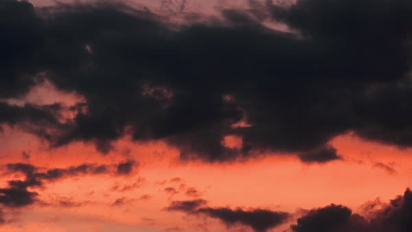 Timelapse of clouds drifting in sky at sunset Royalty-free stock video