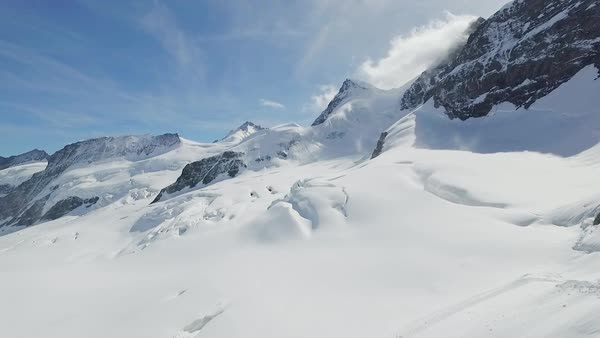 Aletsch glacier aerial Royalty-free stock video