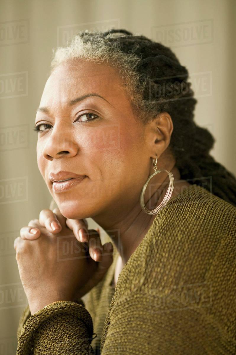 Mature black women pics Portrait Of Mature African Woman Stock Photo Dissolve