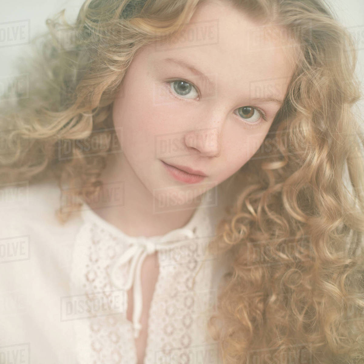 Caucasian Teenage Girl With Curly Hair D145 188 613
