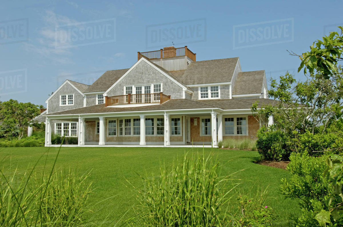 Exterior Contemporary Shingle Style Home With Rooftop Balcony D145 200 277