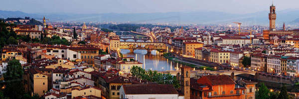Skyline of Historic Florence Royalty-free stock photo