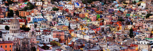 Housing in Downtown Guanajuato Royalty-free stock photo