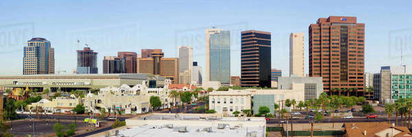 High Rise Buildings of Downtown Phoenix Royalty-free stock photo