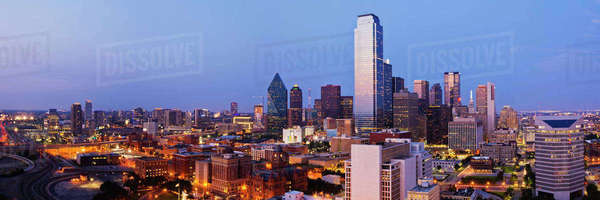 Downtown Dallas at Dusk Royalty-free stock photo