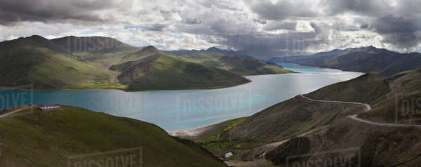 Yamdrok-tso also called Yamdrok Lake Royalty-free stock photo