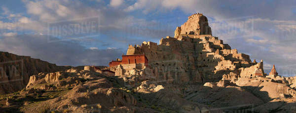 Guge Kingdom historic site, founded in the 9th century Royalty-free stock photo