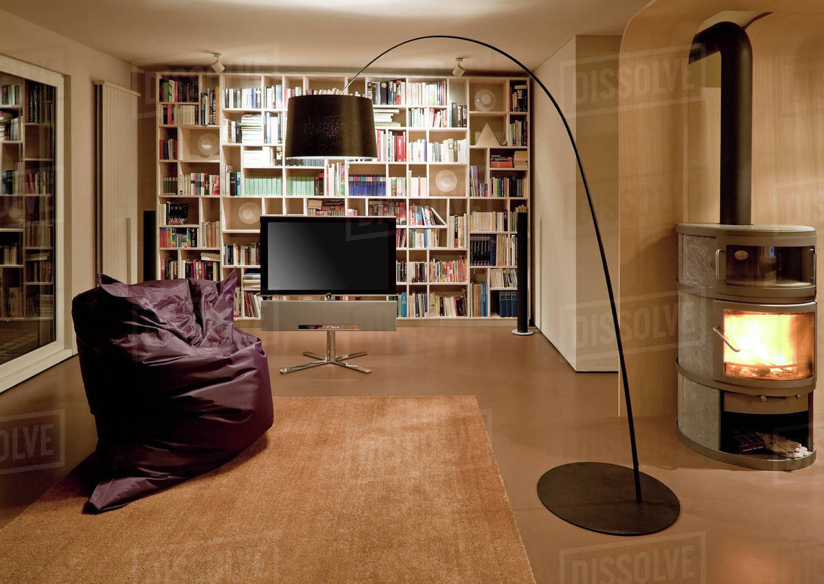 Bean Bag Chair And Television In Modern Home D145 224 767