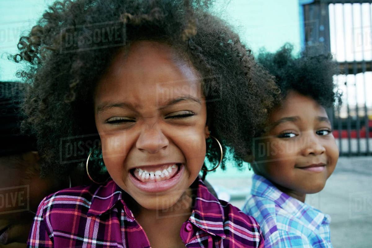 Close up of smiling girls Royalty-free stock photo