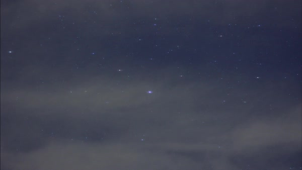 Timelapse of a starry sky with passing clouds Royalty-free stock video