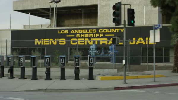 Exterior shot of Men's Central Jail at Los Angeles County Royalty-free stock video