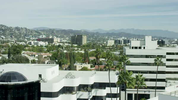 Exterior of Los Angeles cityscape with modern buildings Royalty-free stock video