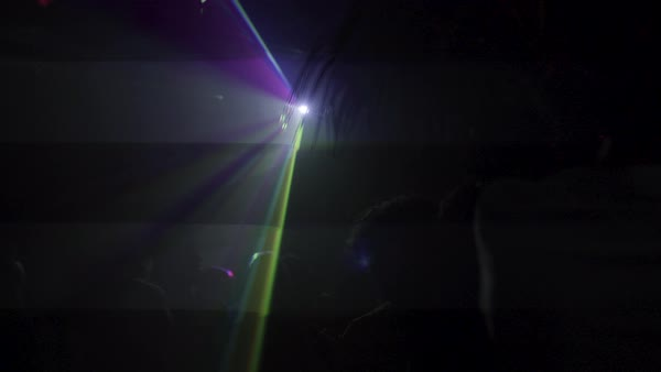 Hand-held shot of a party in a nightclub Royalty-free stock video