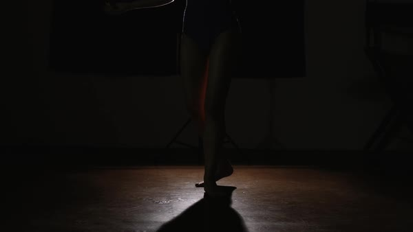 Slow motion shot of woman dancing in a studio Royalty-free stock video