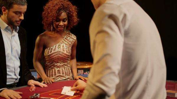Players Gamble in the Foreground and Background of the Casino, medium shot Royalty-free stock video