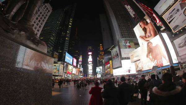 Times Square at night, Manhattan, new York. Royalty-free stock video