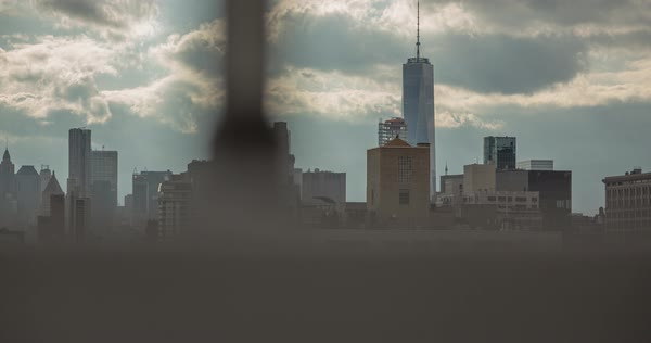 Timelapse shot of clouds passing over New York Royalty-free stock video