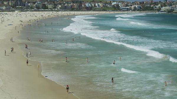 Ocean Waves at Bondi Beach - Stock Video Footage - Dissolve