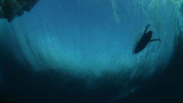 Underwater Ocean Wave With Surfer Royalty-free stock video