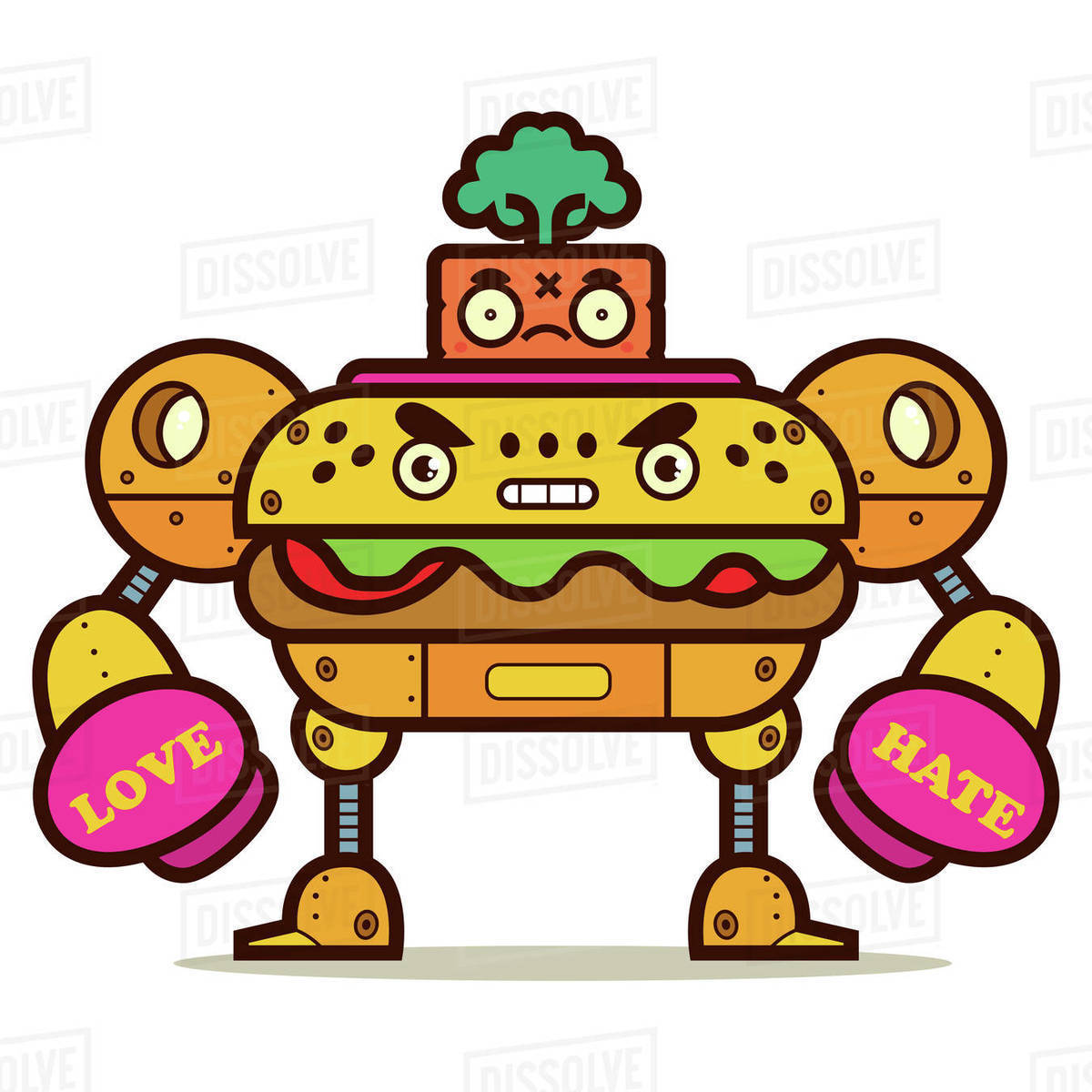 Illustration of robot against white background Royalty-free stock photo