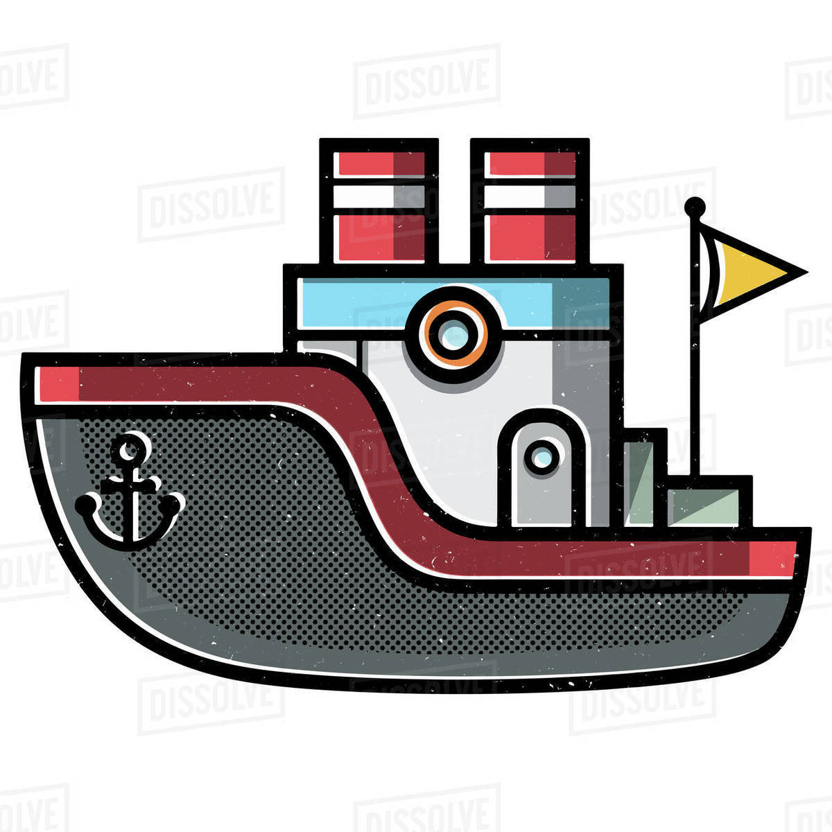 Illustration of ship against white background Royalty-free stock photo