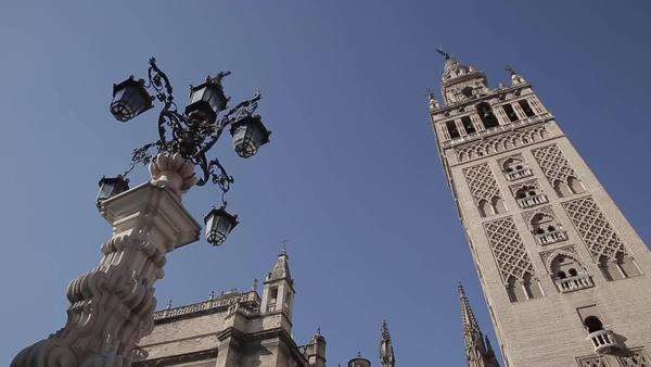 A shot of the cathedral in Seville, Spain Royalty-free stock video