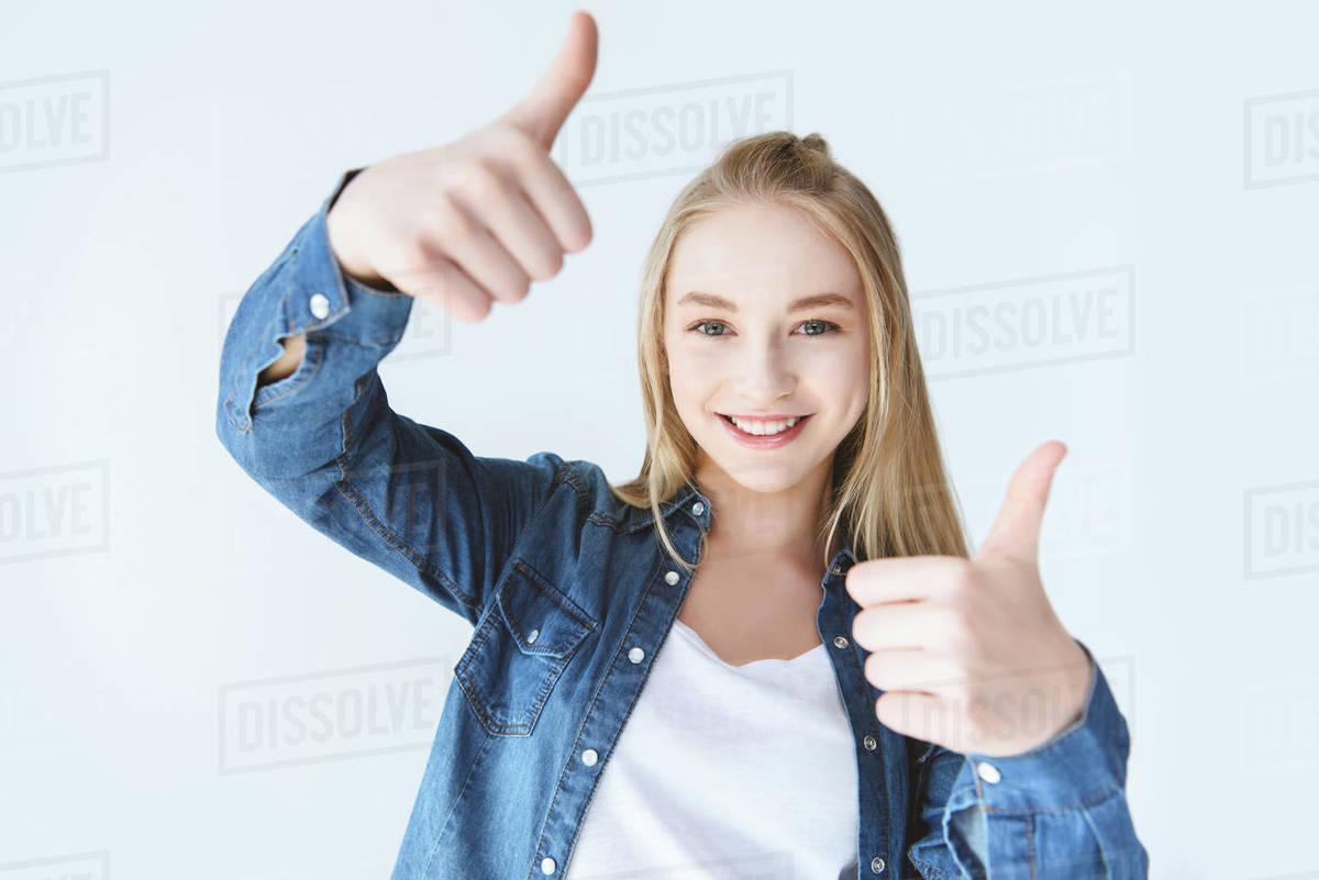 Teen Girl Thumbs