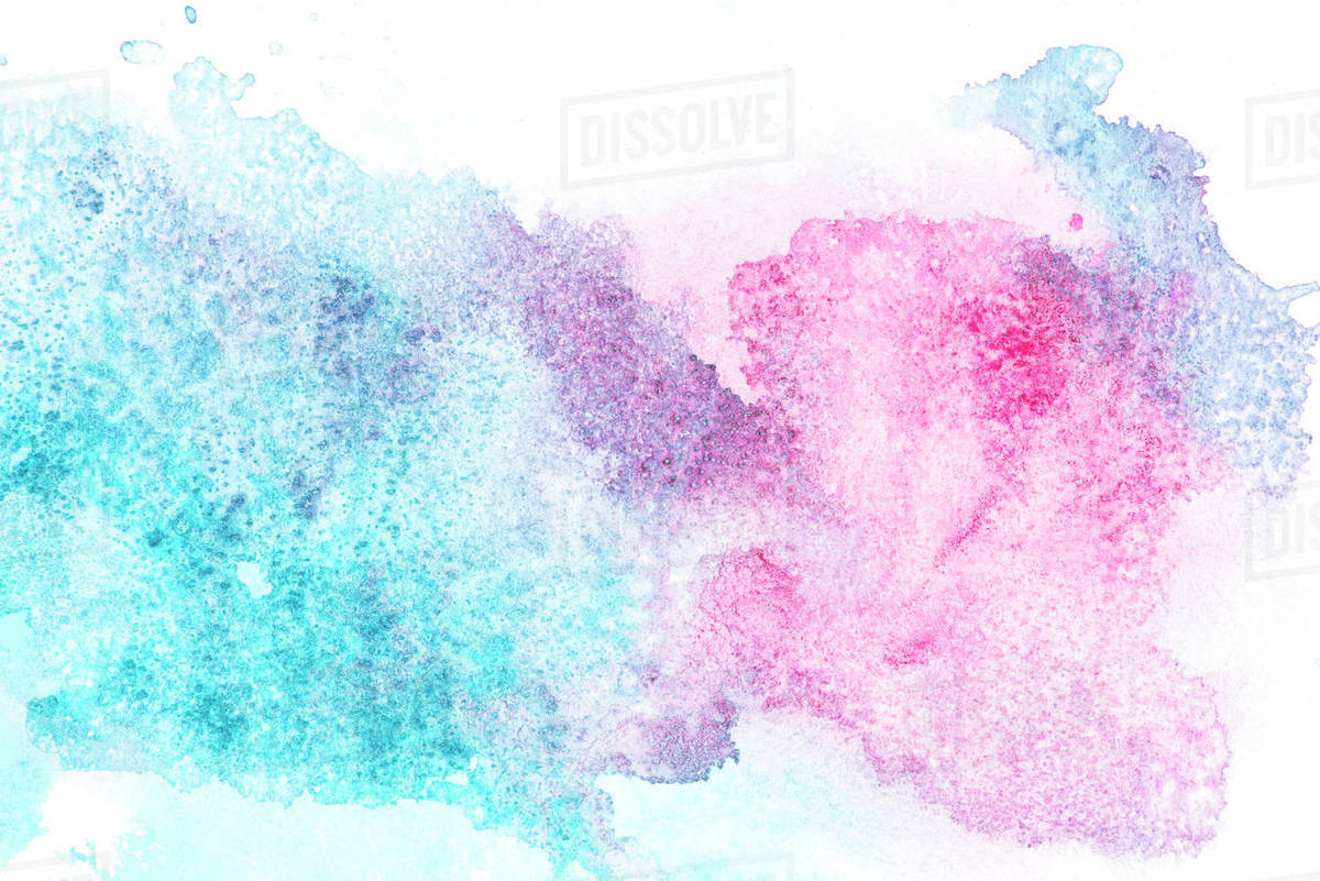 Abstract Painting With Pink And Blue Paint Spots On White D2115 244 627