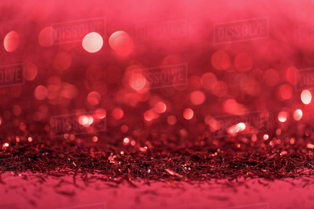 Christmas Background With Red Shiny Blurred Confetti D2115 262 037