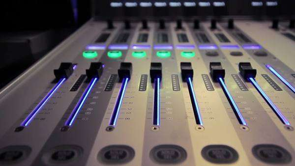 Professional audio studio mixer in action Royalty-free stock video
