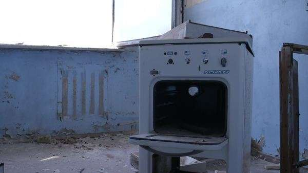Close-up of stove in abandoned space Rights-managed stock video