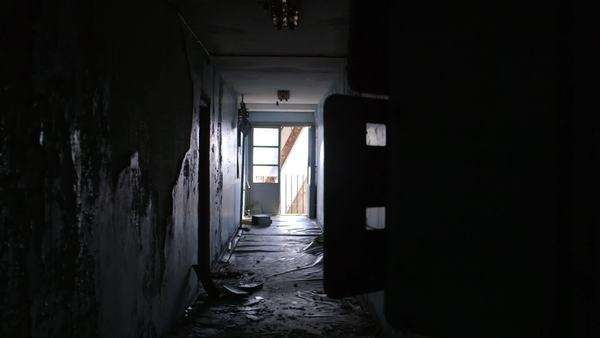 Static shot of abandoned hallway Rights-managed stock video