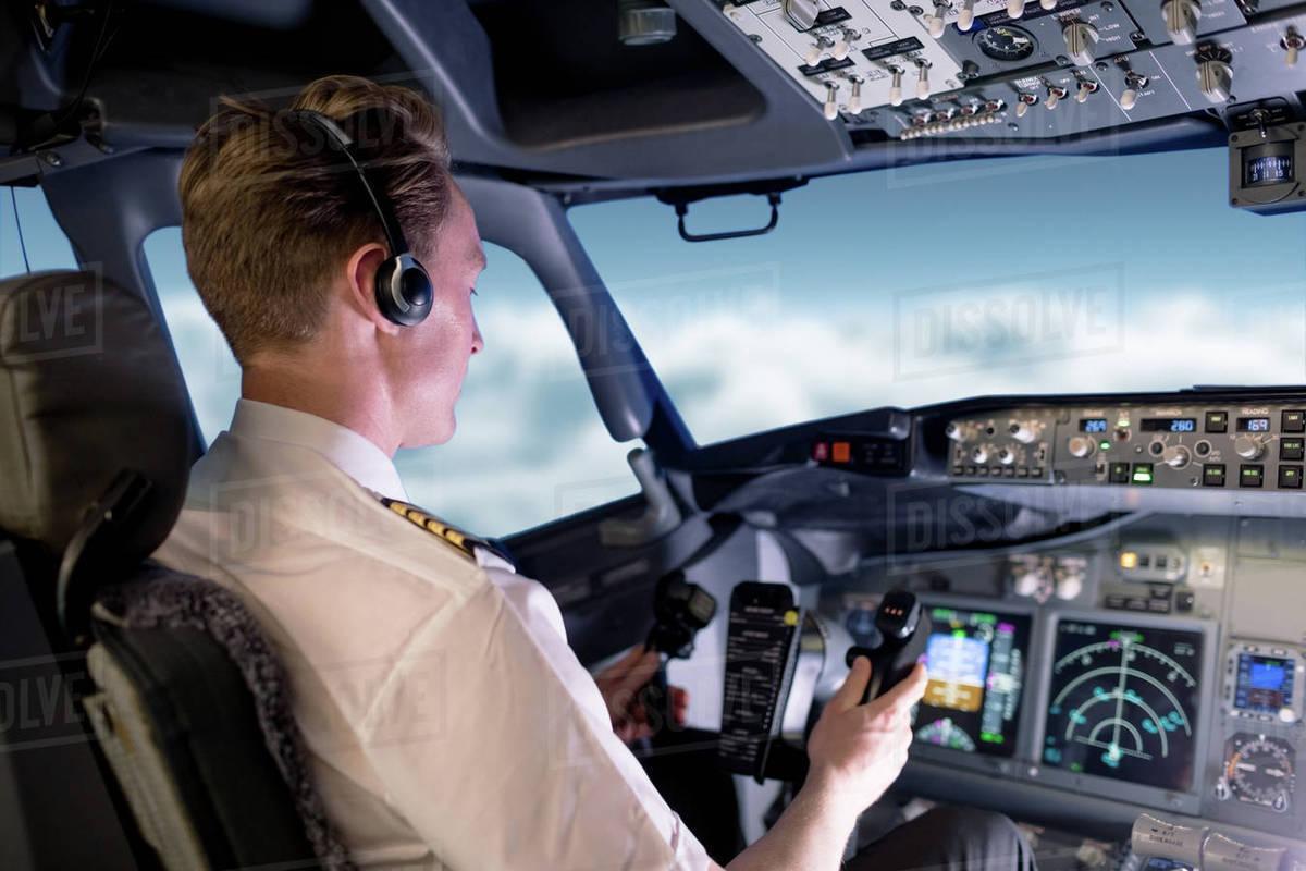 Male pilot