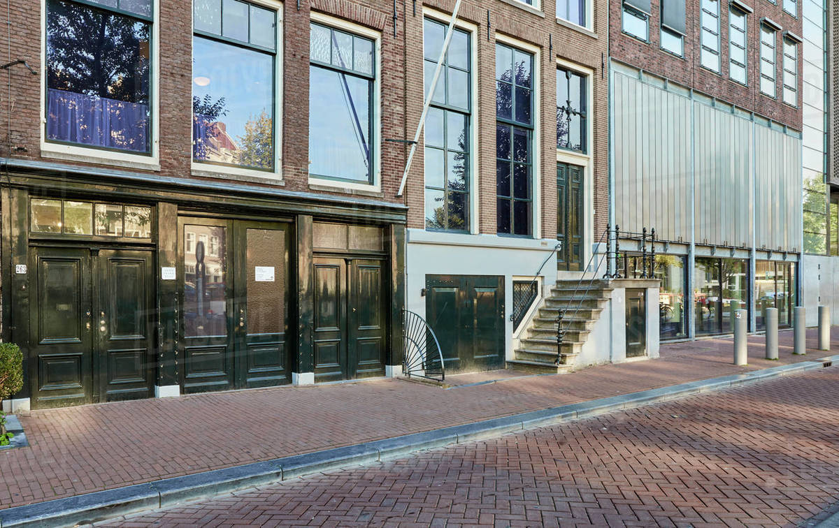 Anne Frank House and Museum in Amsterdam, North Holland, The Netherlands, Europe Royalty-free stock photo